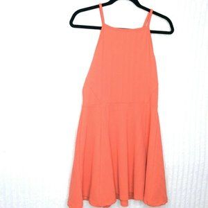 H&M Coral Sleeveless A Line Flared Dress 12